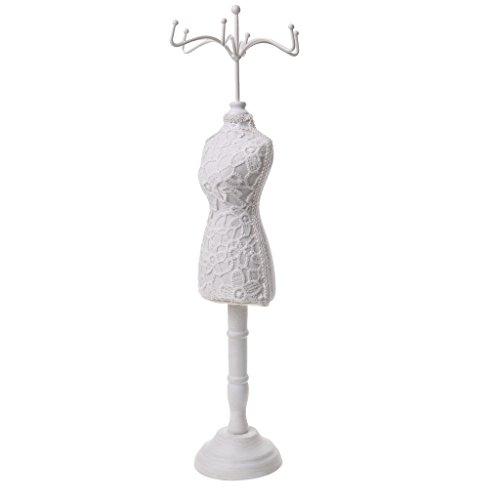 Mannequin Schmuckständer Modellform Schmuckhalter aus Harz Schmuck Kette stehen Display Halter - Weiß
