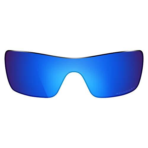 ThunderClap Lentes de repuesto polarizadas para gafas de sol Oakley Batwolf OO9101 - Geyser Blue