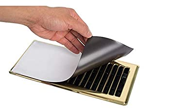 Magnetic Vent Cover - 5 Pack - Strong Hold! Save Money on Heating Bills! Won t Fall Off Ceilings or Walls Covers Vents to redirect air Flow Looks Great Against All Colors Extremely Easy Install.