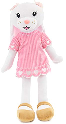 """PLUSHIBLE BRIDGING MILES WITH SMILES Sharewood Forest Friends - Plush Stuffed Animal for Girls and Boys - 18"""" Rag Doll (Brie The Bunny)"""