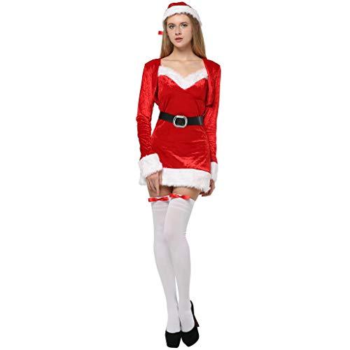 EraSpooky Natale Dolce Donna Taglia Abito e Cappello Costume da Festa