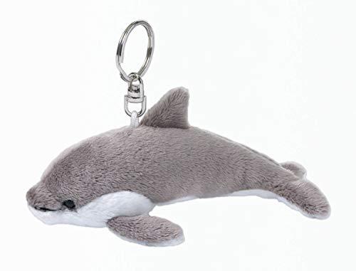 Mimex WWF00306 - WWF Schlüsselring Delphin 10 cm, grau