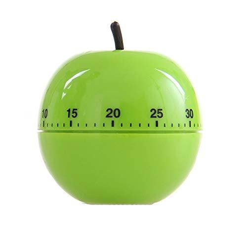 """Eieruhr Apfel Mechanischer Timer Kreativer Eieruhren Sound Countdown Timer Küchentimer Eieruhr Mit Timer-Funktion Für Kochen Sport Studieren Bis 60 Minuten Ökodesign Aus ABS-Kunststoff 1""""Pcs (Grün)"""