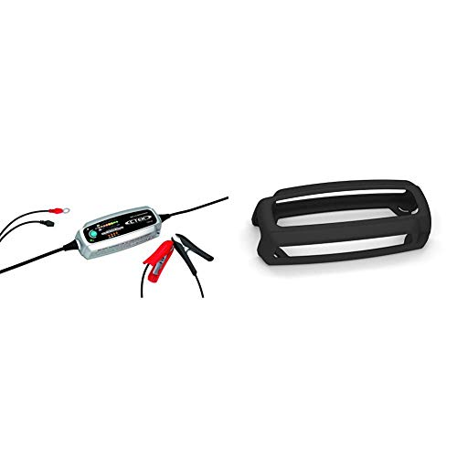 CTEK MXS 5.0 Test and Charge, Intelligentes Multi-Funktions Ladegerät Und Tester In Einem & Protect Bumper: Rutschfester Gummischutz Batterieladegerät
