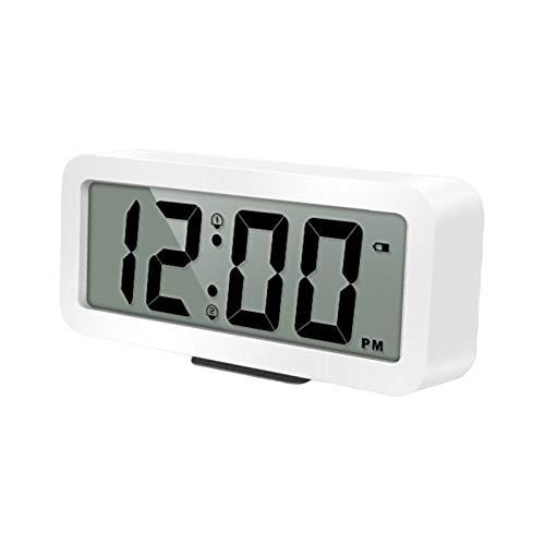 Reloj Despertador Digital Volumen Alto Despertador Digital Pilas Volumen De Alarma Ajustable Pantalla Digital LCD Pequeño Fácil De...