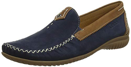 Gabor Shoes Damen Comfort Basic Slipper, Blau (Navy/Copper 46), 36 EU