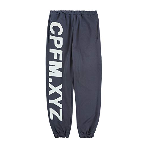 NAGRI Kanye CPFM.XYZ Men's Joggers Pants Yoga Lounge Sweatpants Letter Printed Pockets Retro Hiking Running Trousers Grey