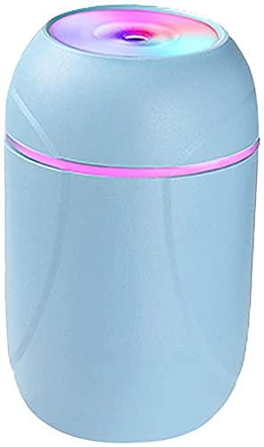 FDABFU Humidificador de Aire para automóvil Purificador de Aire Piojo portátil de 260 ml Alimentado por USB - Azul