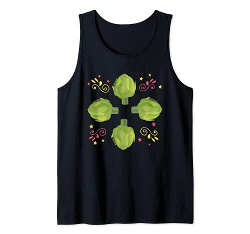 Gran Alcachofa Retro Ropa Vegetariana Disfraz Camiseta sin Mangas