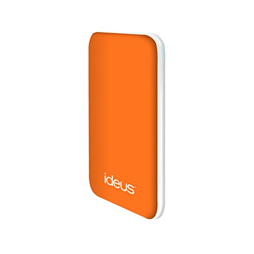 Ideus PBPL5000RUOR - Batería Externa de 5000 mAh, Color Naranja