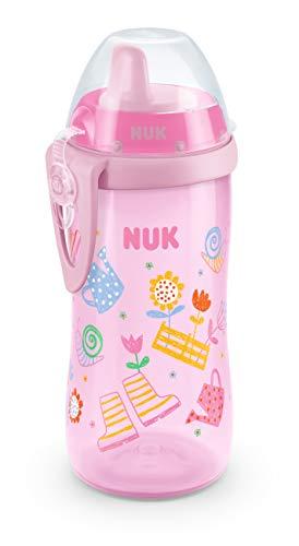 NUK 10255568 Kiddy Cup mit beißresistenter Trinktülle, 300ml, auslaufsicher, ab 12 Monaten, BPA frei, 1 Stück, rosa