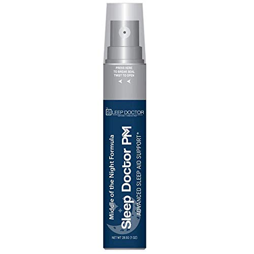 Middle of The Night Sleep Aid Spray by Sleep Doctor PM — Fast-Acting All-Natural Sleep Spray — Sleep Aid That Quickly Induces Natural Sleep