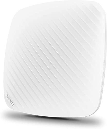 TENDA I9 Access Point Wi-Fi N300 Mbps AP Wireless, Supporto PoE 802.3af,1 Fast LAN, Gestione Centralizzata, Captive Portal, Bianco