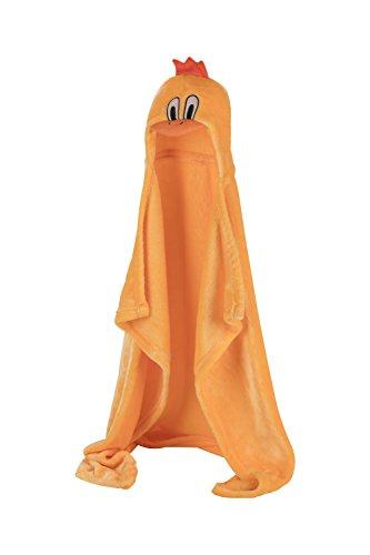Asciugamano con Cappuccio per Neonati - Morbido Accappatoio Poncho in Microfibra per Bambini (Pulcino)