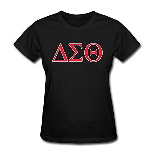 Jacen shop Delta Sigma Theta - Camiseta de verano para mujer, color negro, multicolor, S