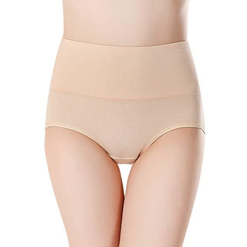 Reooly Calzoncillos de algodón de Cintura Alta Mujer Ropa Interior Calzoncillos Calzoncillos