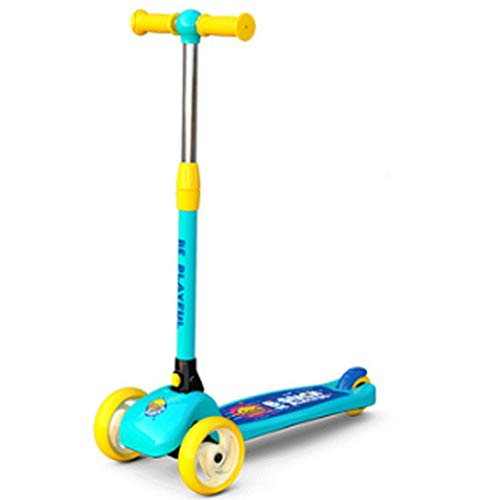 Roller für Kinder Kinder Kick-Roller für Kleinkinder Jungen Mädchen im Alter von 2-12 Jahren, einstellbarer...