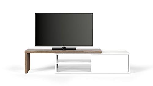 TemaHome, Move TV Tisch, 110x35x31 cm, Nussbaum Furnier/weiß