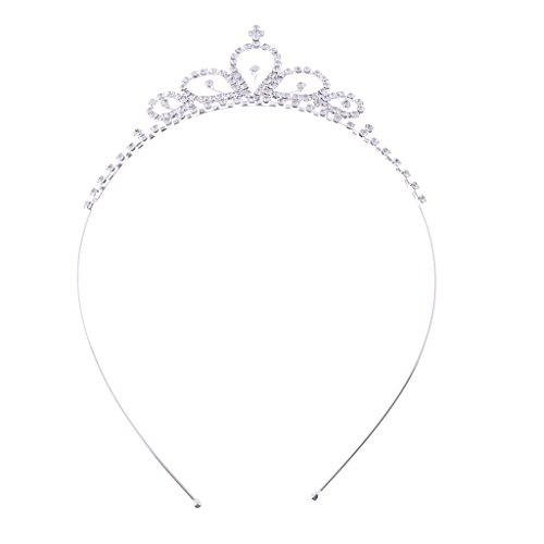 Sharplace Princesse Cristal Diamante Cheveux Couronne Bandeau Filles Femme Fantaisie Robe Partie Cheveux Accessoire
