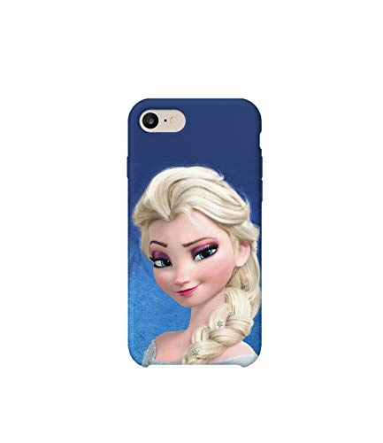 GlamourLab Frozen Princess Elsa Smile Protective Case Cover Hard Plastic Handyhülle Schutz Hülle for iPhone 7 Regalo di Natale