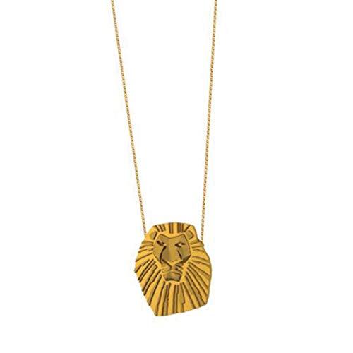 Goebel Couture Kingdom König der Löwen Halskette Mufasa, Hals Kette, Anhänger, Schmuck, Gold, 12100121