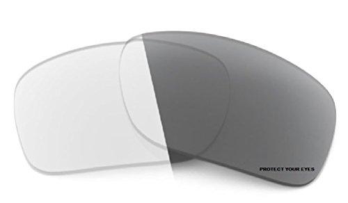 MZM Ersatzgläser für Oakley Racing Jacket (vented) (wählen Sie die Farbe) (PhotoChromic- Grau)