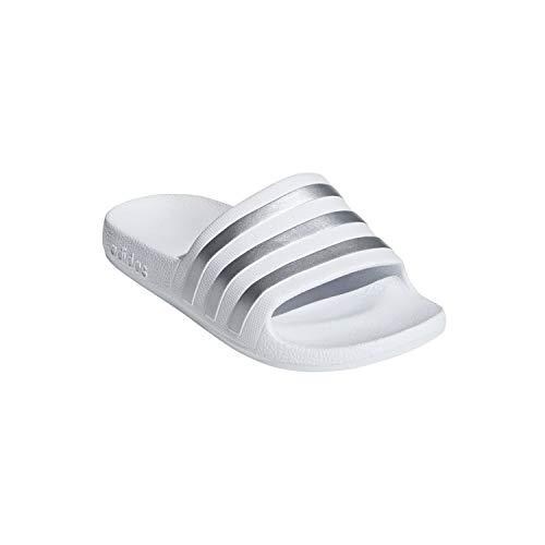 Adidas Aqua Kids Adilette Chanclas, color Blanco, talla 36 EU