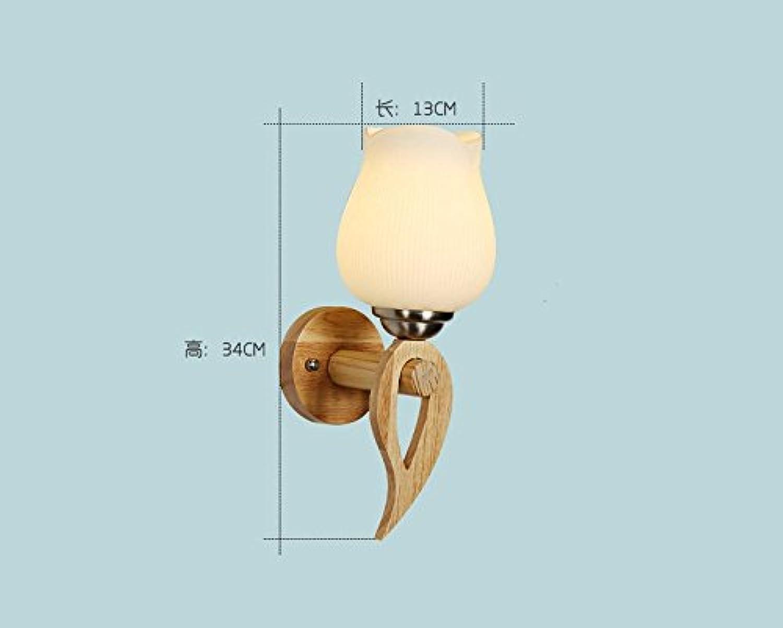 StiefelU LED Wandleuchte nach oben und unten Wandleuchten Wandleuchten LED Massivholz Strae Flur Schlafzimmer Nachttischlampe, E3 W