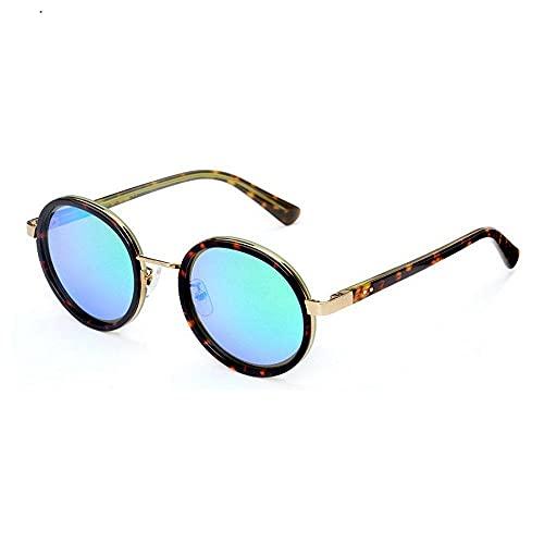 Gafas de sol unisex de alta definición, polarizadas y redondas, marco de metal, protección Uv400, personalidad, moda, ligeras, para deportes al aire libre, Wayfarer