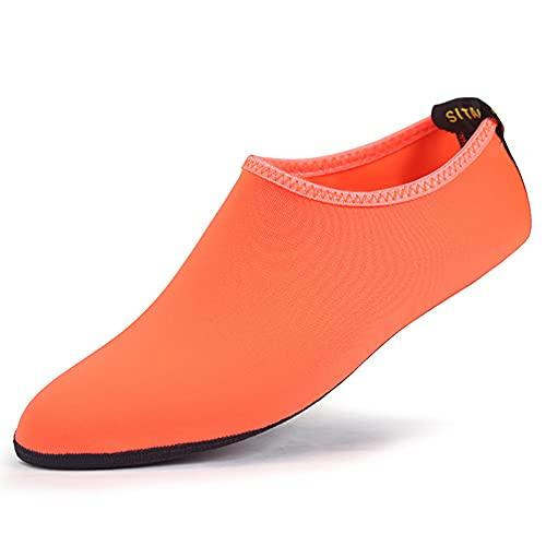 QAOSHOP 2 pares de zapatos de playa para niños y niñas, calcetines acuáticos descalzos para niños, piscina, surf, yoga, playa, deportes, F, S