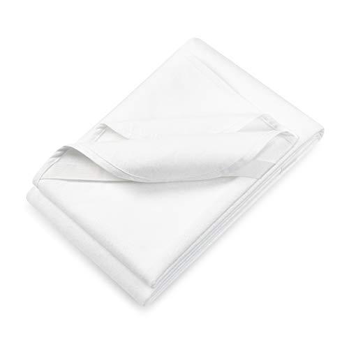 KLICKSTEP wasserdichter Molton Matratzenschoner 90 x 200 - für trockene und saubere Matratzen - hygienische und wasserdichte Matratzenauflage - stoppt jegliche Nässe und Feuchtigkeit