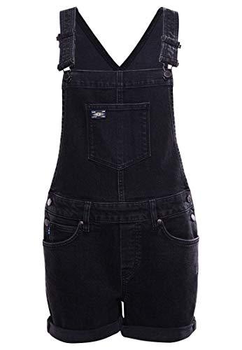 Superdry Utility Dungaree Shorts Vestido, Jessy Black Vintage, M para Mujer