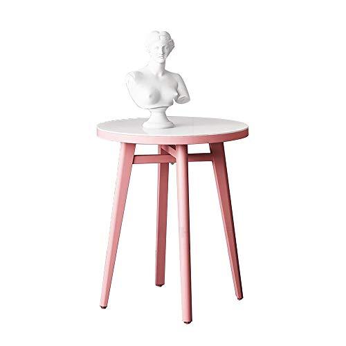 FUFU Mesas auxiliares Mesa de extremo de la mesa de acento redondo de metal Mesa de café de la mesa de café redonda de la mesa de la mesa redonda para la sala de estar y el dormitorio Pequeños espacio