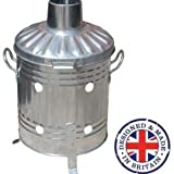 Small Medium Large 15L 60L 90L Litre Metal Galvanised Garden Incinerator Fire Bin Burning Leaves Paper Wood Rubbish Dustbin Shovel and Poker Made In U. K. (15L INC Onlly)