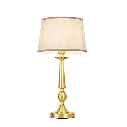 Tafellamp witte lampenkap dimmer hotel showroom slaapkamer beddengoed textiel H65 koper creatief retro