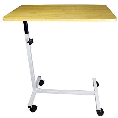 Mobiclinic, Mesa auxiliar con ruedas, Modelo Meseta, Mesa de altura regulable, Mesa con ruedas para sofá y cama, Mesa ligera para ayuda de personas mayores
