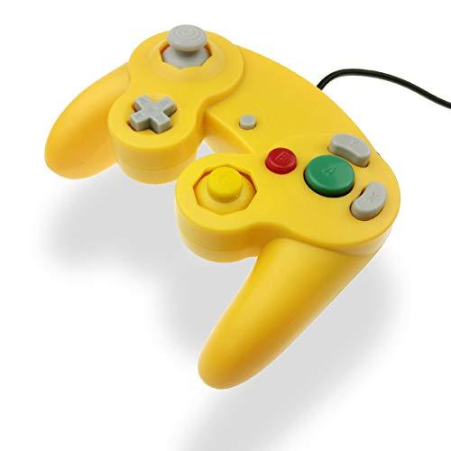 GC Controller Joystick für Wii Wired Game Controller Joypad Dual Vibration NGC Gamepad Game Cube Original Controller GC Spiele für GameCube & Wii (Gelb)