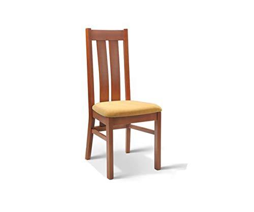 Möbel Gregor Esszimmerstuhl Stuhl Stühle Holzstuhl Polsterstuhl KR-106 (KIRSCHBAUM)