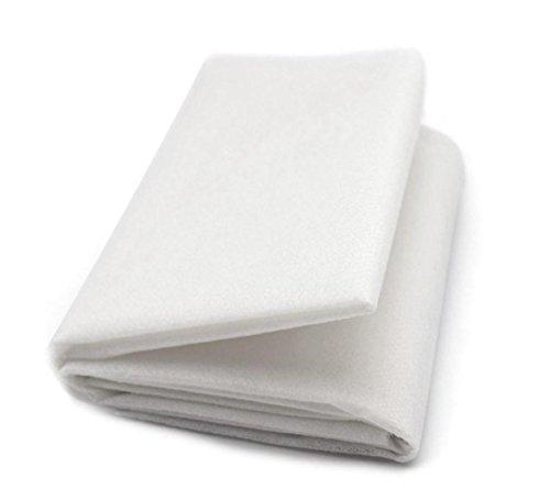ZADAWERK® Bügelvlies - 80+18 - Weiß - 90 x 100 cm - einseitig - nähen - Stoffe