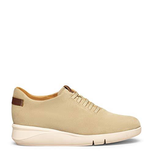 Zapatos miMaO. Calzado de Piel Hecho en España. Zapatillas Casual con Cuña, Cordones Elásticos y Plantilla Memory Absorber Foam