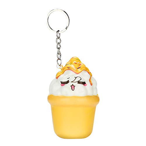 Quaan Cute Cat Haar Ball Anhänger Haar Ball Schlüsselanhänger Ballerina Mädchen Tasche Anhänger Haar Ball Schlüsselanhänger Cute Key Chains Schlüsselanhänger (Gelb, 8x5cm)