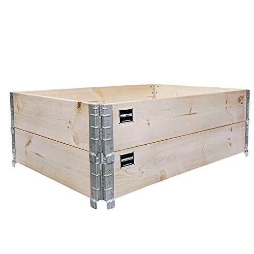 Schroth Home Hochbeet 120x80x40cm rechteckig - Palettenrahmen aus Holz - Hochbeet für Garten - faltbar - 2 teilig