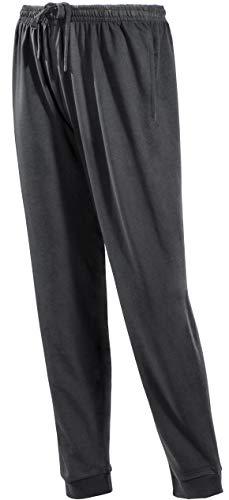 PHINOMEN Bequeme Schwarze Jogginghose Größe M - Unisex Classic Model mit Seitentaschen und Bündchen - Freizeithose für jeden Tag auch für Herren