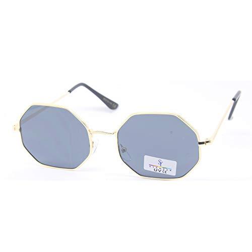 SEEYOU Sonnenbrille, sechseckig, für Damen und Herren, UV-Schutz, UV400