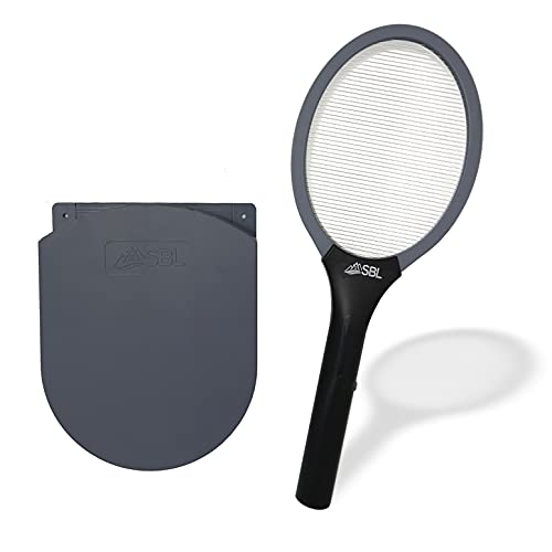 Fly Swatter Electric Fly Swatter Racket, Electric Mosquito Swatter, Bug Zapper Racket, Electric Fly Bat with Patented Wall Case