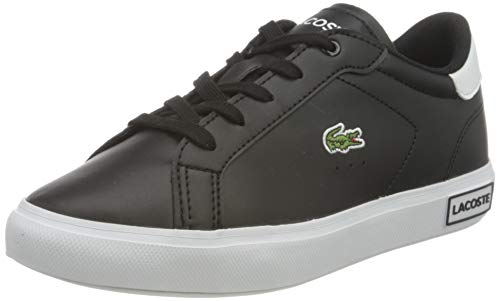 Lacoste POWERCOURT 0721 1 SUC Sneaker, Blk/Wht, 33 EU
