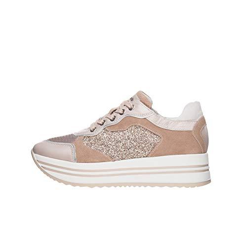 Nero Giardini E010569D Sneakers Donna in Pelle, Camoscio E Tela - Peonia 38 EU