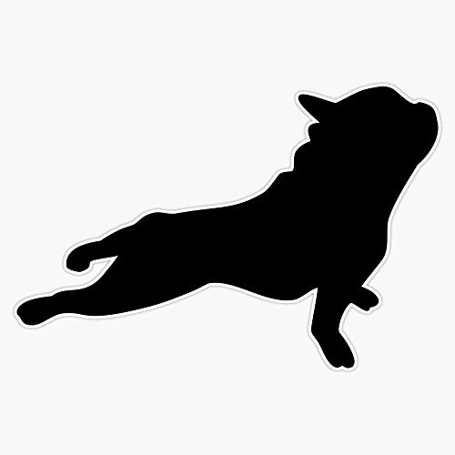 Frenchie Yoga French Bulldog Doing Yoga Sticker Vinyl Bumper Sticker Decal Waterproof 5'