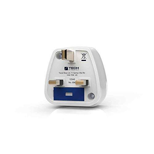 Travel Blue Schuko Netzadapter EU – UK 896 Schutzkontakt Reisestecker von Europa nach Großbritannien Stromadapter England Reiseadapter Ladegerät