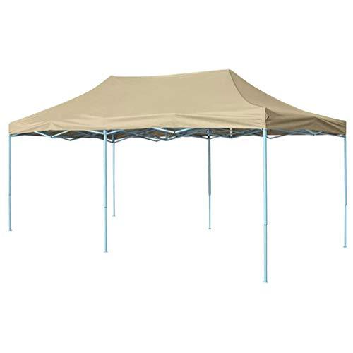 Tidyard Foldable Tent Pop-Up 3x6 m Cream White